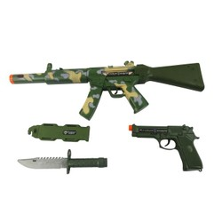 Set militaire : Fusil + accessoires