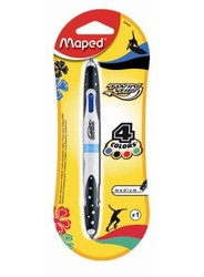 Maped Stylo bille 4 couleurs Twin Tip