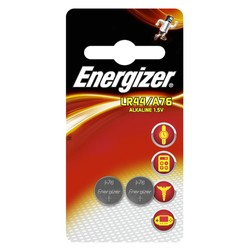 2 piles bouton LR44 alcalines 1,5V Energizer
