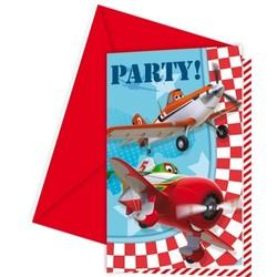 Planes 6 invitations et enveloppes