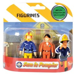 Pack de 2 figurines Sam le Pompier