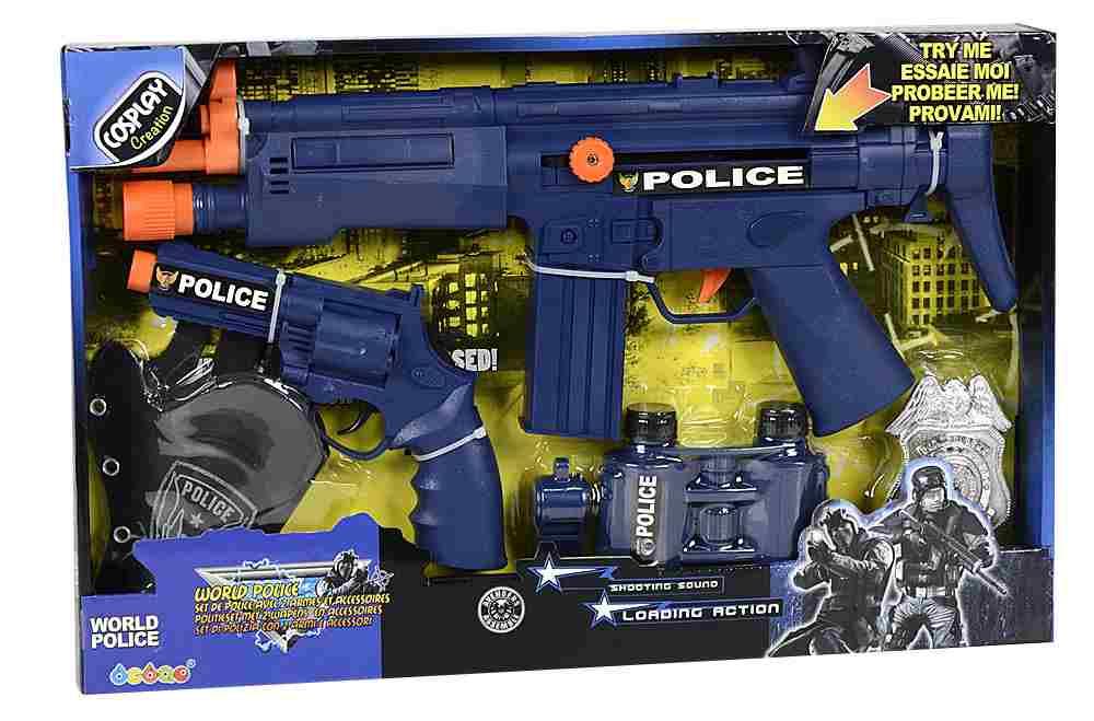 Set de police avec 2 armes et accessoires
