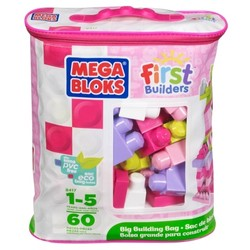 Sac 60 maxi blocs roses First Builders