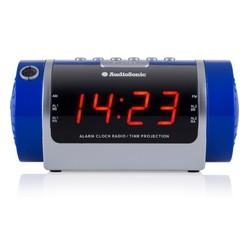 Radio Réveil Projecteur (couleur Bleue)