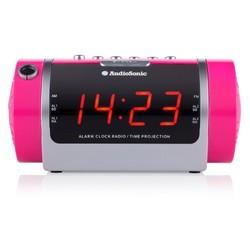 Radio Réveil Projecteur (couleur rose)