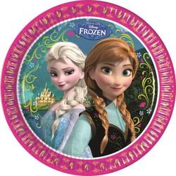 8 assiettes en carton 23 cm La Reine des Neiges