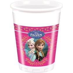 8 gobelets 200 ml La Reine des Neiges