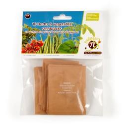 10 sachets de graines aromates et légumes