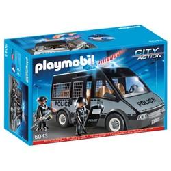Fourgon de police avec sirène et gyrophare - PLAYMOBIL City Action - 6043