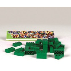 Sachet 75 briques - Coloris vert foncé