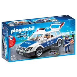 Voiture de policiers avec gyrophare et sirène - PLAYMOBIL City Action - 6920