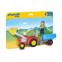 Fermier avec tracteur et remorque - PLAYMOBIL 1.2.3 - 6964