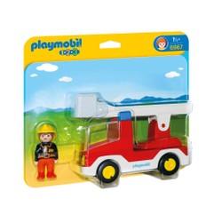 Camion de pompier avec échelle pivotante - PLAYMOBIL 1.2.3 - 6967