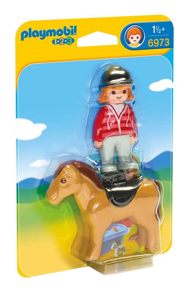 Cavalière avec cheval - PLAYMOBIL 1.2.3 - 6973