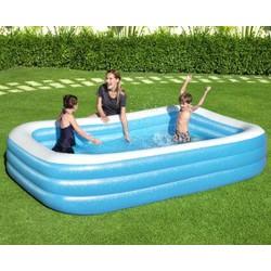 Piscine rectangulaire translucide bleue 305 cm