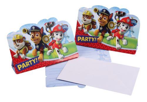 Pat  Patrouille - 8 cartes d invitation 23x11 cm
