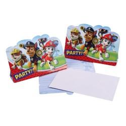 Pat' Patrouille - 8 cartes d'invitation 23x11 cm