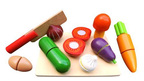 Fruits ou légumes à découper en bois Qweenie Home