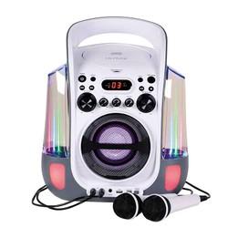 Station CD et CD-G/Karaoké/USB+2 Micros Avec Jets d'eau et effets Lumineux