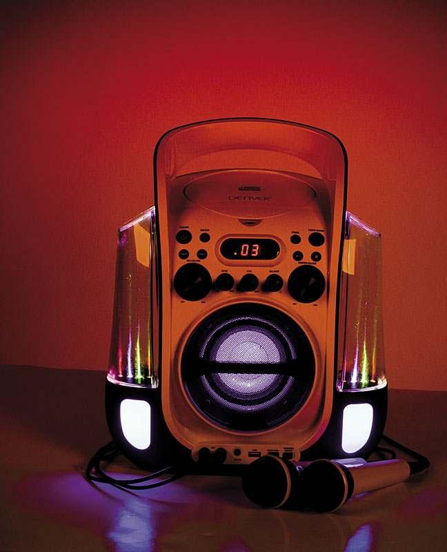 Station CD et CD-G/Karaoké/USB+2 Micros Avec Jets d eau et effets Lumineux