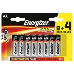 Piles Energizer Max 8+4 LR6 (AA)
