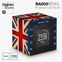 """Radio Réveil """"British"""" avec Projecteur"""