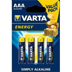 Pack de 4 piles Alcalines AAA/LR03 Varta Energy