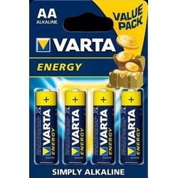 Pack de 4 piles Alcalines AA/LR6 Varta Energy