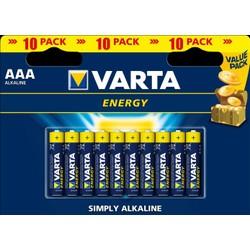Pack de 10 piles Alcalines AAA/LR03 Varta Energy