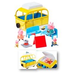 Peppa Pig en vacances - Le Camping-Car avec 4 personnages et accessoires