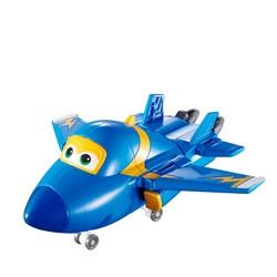 Super Wings - Avion transformable Bleu - Jerome