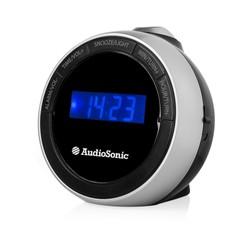 Radio Réveil Audiosonic avec projecteur (noir)