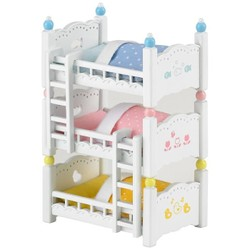 Lits superposés à 3 couchettes bébés - Sylvanian Families - 4448