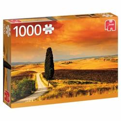 Puzzle 1000 pièces - Coucher de soleil en Toscane, Italie