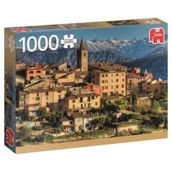 Puzzle 1000 pièces - Village méridional encadré par les Alpes
