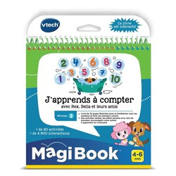 """Magibook : Livre """"J'apprends à Compter avec Rex, Bella et leurs Amis"""""""