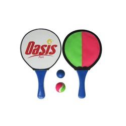 Set raquettes bois/catch ball 2en 1