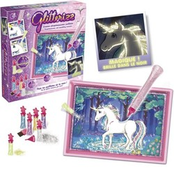 Licornes phosphorescentes pailletées Glitterizz