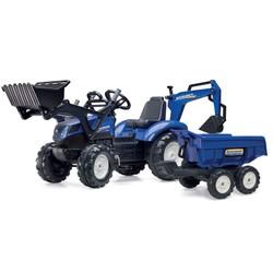 Tracteur New Holland T8 avec pelle et remorque