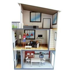 Maison contemporaine meublée en bois