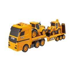 Transporteur JCB avec 2 véhicules