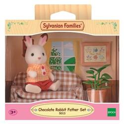 Papa lapin chocolat avec salon - Sylvanian Families - 5013