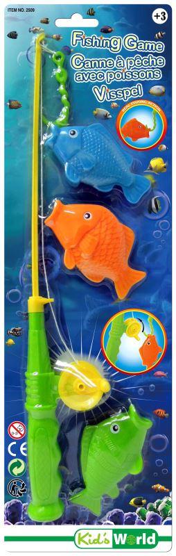 Canne à pêche + poissons