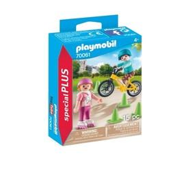 Enfants avec vélo et rollers - PLAYMOBIL Special Plus - 70061