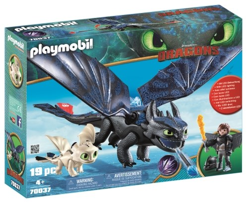 Krokmou et Harold avec bébé dragon - PLAYMOBIL Dragons - 70037