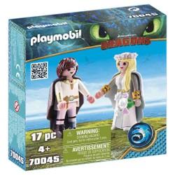 Astrid et Harold en tenue de mariage - PLAYMOBIL Dragons - 70045