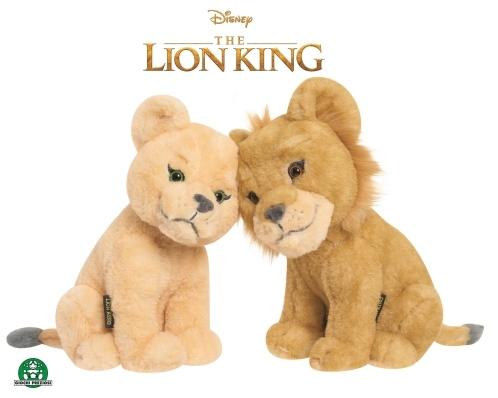 Le Roi Lion  - Peluches 17 cm Simba & Nala Câlins