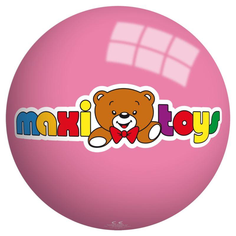 Ballon en plastique rose  Maxi Toys - 23 cm
