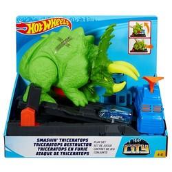Coffret de jeu Tricératops en furie - Hot Wheels City