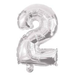 Ballon Chiffre 2 Argent